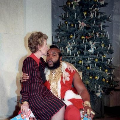 Mr. T. Santa Claus Nancy Reagan