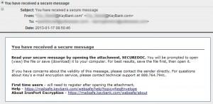 secure message scam email trojan virus zbot troj/zbot dpm