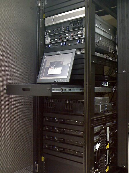 a tower of servers